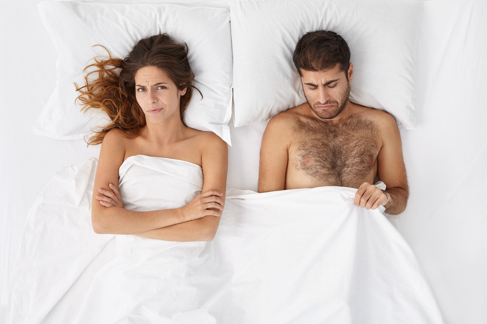 disappointed couple in bed should try Malegenix supplement