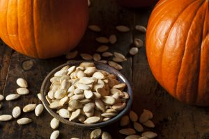 pumpkin and pumpkin seeds on bowl, Malegenix