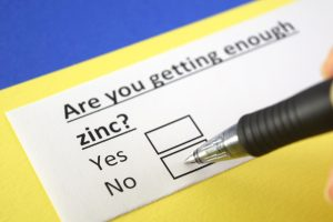 zinc deficiency checklist filled out by man who wants to try Malegenix