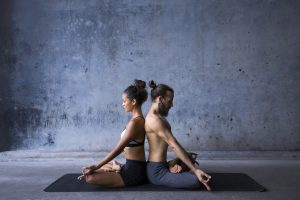 meditating couple has heard about benefits of Malegenix male enhancement supplement