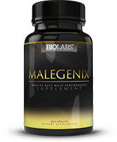 Bottle of MaleGenix Male Supplements